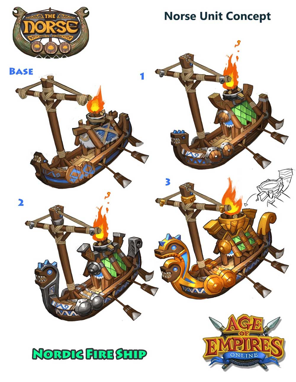 Age of Empires Online ship Concept Art